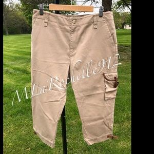 RARE! Ralph Lauren Capri pants leather details
